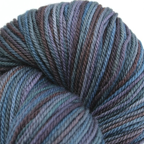 Superwash merino sock seeing stone
