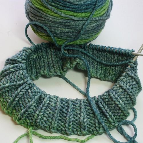 Write the pattern first knitting