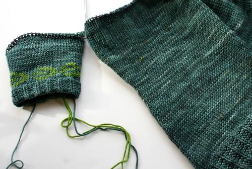 Dark water sweater progress