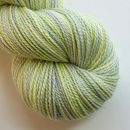 Superwash merino silk pasque flower main