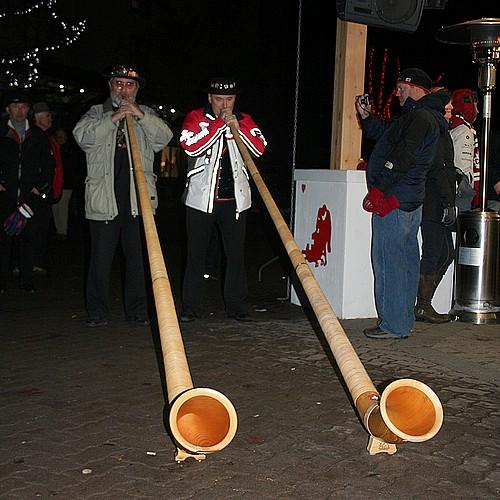 Swiss alpenhorns