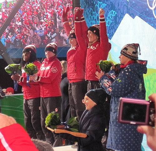 Gold medal at the flower ceremony