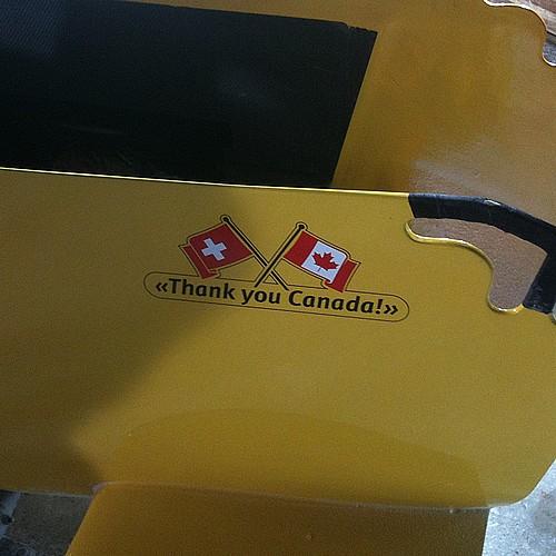 Swiss thankyou