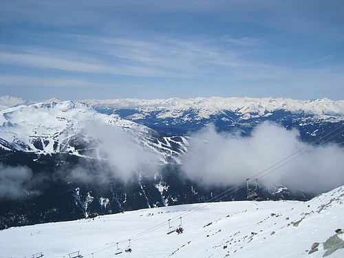 Panorama from top of blackcomb