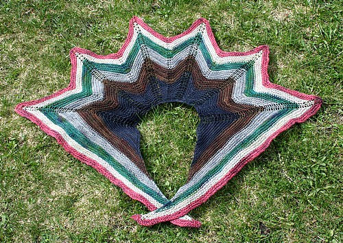 Sampler shawl flat