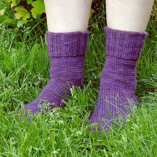 Iris socks from front