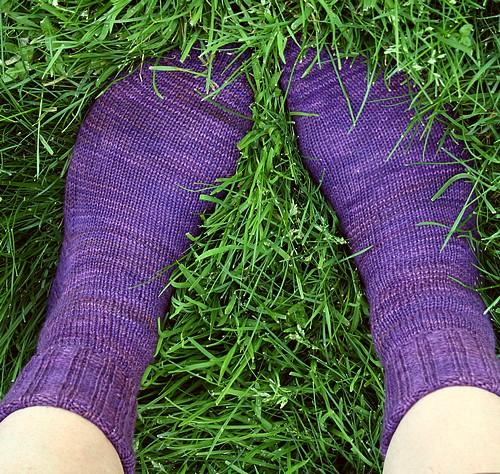 Iris socks from top