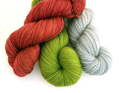 Three yarn combo for heather
