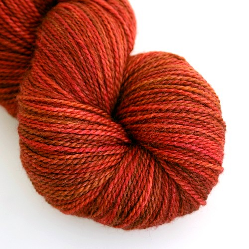 Fading heather merino silk