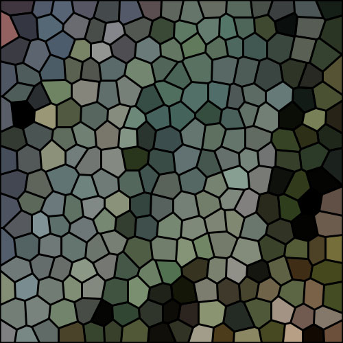 Winterbark greens mosaic
