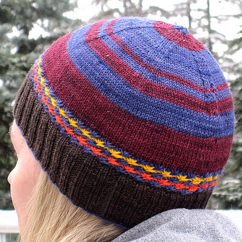 Side view of hat